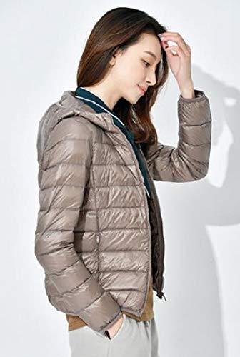Puffer Packable Womens Coat Ultra RkBaoye Khaki Outwear Light Down Winter Hooded qRtwHE