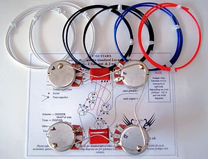 41Ataj8USCL les paul 500k wiring harness kit full size pots red baron caps les paul wiring harness at bayanpartner.co