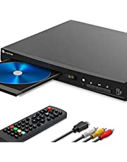 $89 » WONNIE Blu-Ray DVD Player for TV, HD 1080P Players with HDMI/AV/Coaxial/USB Ports, Supports All DVDs and Region A/1 Blue Ray, Built-in PAL/NTSC System, Includes HDMI/AV Cable and Remote Control