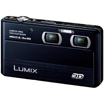 Amazon.com : Panasonic digital cameras Lumix 3D shooting black DMC ...