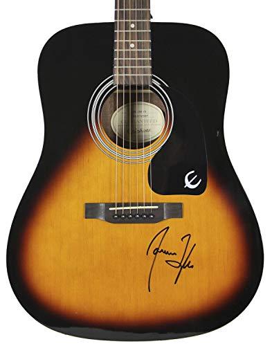 James Taylor Autographed Signed Epiphone Acoustic Guitar Autographed Signed Bas #H60051 - Certified - Taylor Memorabilia James