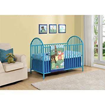 Top Selling Most Popular Cheap Navy Blue Contemporary Metal Baby Infant  Adjustable Crib Sleeper Bed