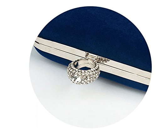 Sacs femme 4 main à femme Sac pour 16 Da 9cm de 5 soirée pochette d'embrayage de Petite de en soirée violet pour Satin pour fête mariage d'anniversaire Bleu WA satin cadeau Sac qxfUxzt