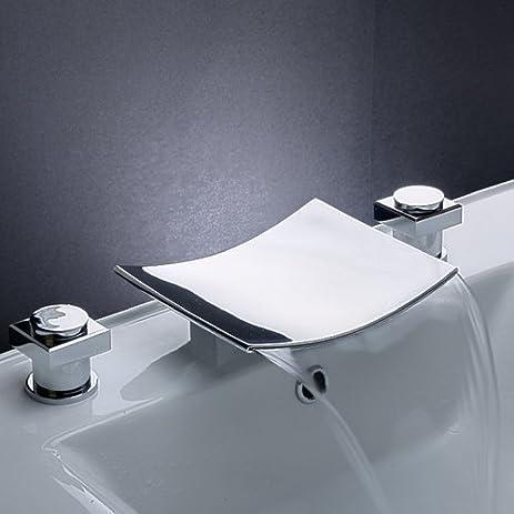 Greenspring Two Handle Widespread Bathroom Sink Faucet Tub ...