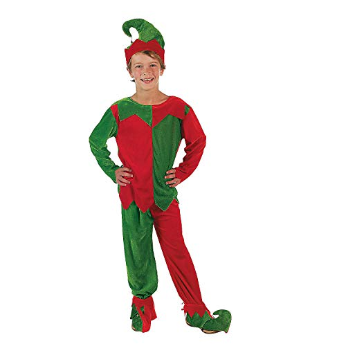 Velour Elf Child's Costume Set Size 10-14