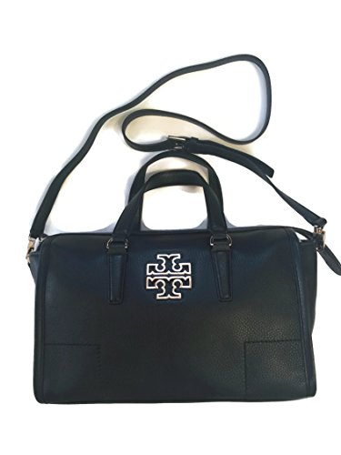 Tory Burch Britten Satchel in Black 495$ style 39056 by Tory Burch