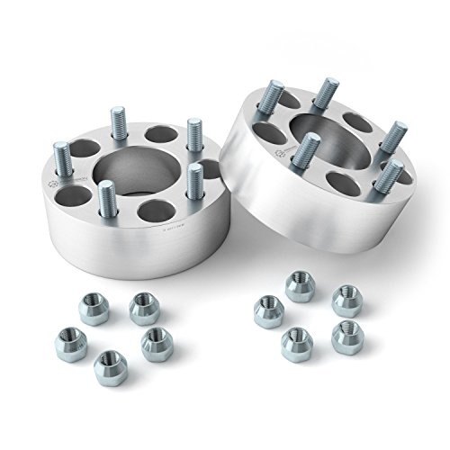 2 inch Hubcentric 5x4.75 to 5x4.75 Wheel Spacers No Lip (70.5mm Bore, Metric 12x1.5 Studs Nuts) for Chevy Blazer Camaro Corvette S10 GMC S15 Jimmy Pontiac Trans Am - Silver 50mm 5x120 5x120.7 2pcs