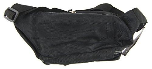 NB24 Bauchtasche, Gürteltasche, schwarz, (2414) Geldtasche für Damen, Herren und Kinder, Nylon, Bag Street, Tasche, Freizeittasche, Schultasche