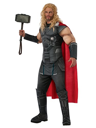 Rubie's Costume Co Rubies Thor Ragnarok Mens Deluxe Muscle Chest Thor Costume