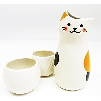 Amazon com | 123kotobukijapanstore Japanese Calligraphy Sake Set, 1