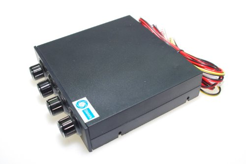 SMAKN® 3.5'' Pc Cpu Hdd 4 Channel Fan Speed Controller Control Led Cooling Front Panel by SMAKN (Image #2)'