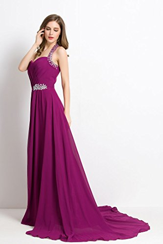 Beauty Abendkleid Sweep schulterfreies Rüschen mit Schleppe formale Light Emily lange Teal rCq6r