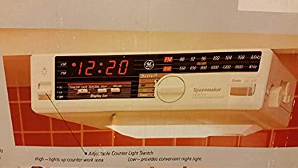Ge Spacemaker Am Fm Radio With Counter Light Model 7 4230 Amazon