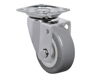 BH 1-1//4 x 1-1//4 70 lbs Schioppa 2 Rigid Non-Brake Caster FLAP 210 BP Plate: 1-21//32 x 1-21//32 Non-Marking Thermoplastic PVC Wheel 50 mm