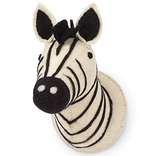 Mud Pie Men's Mini Safari Wall Mounts Cream One Size by Mud Pie