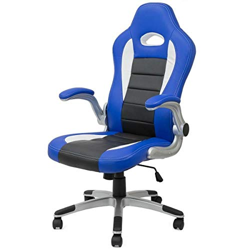 Cypress Rocker - Cypress Shop Gaming Computer Chair Racing Car Seating Style Office High Back Armrest Seat Ergonomic Office Swivel PVC PU Leather Desk Seating Style Game Seats Workstation Home Office Furniture Blue