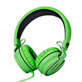 Cheap RockPapa Stereo Adjustable Foldable Headphones Lightweight Headband Headsets with Microphone 3.5mm for Cellphones Smartphones iPhone Tablets Laptop Computer Mp3/4 DVD (Black/Green)