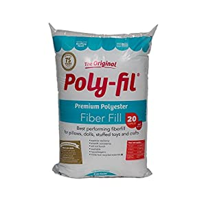 Fairfield 100% Polyester Poly-Fil 20 oz, 20 Ounce, Waterfall