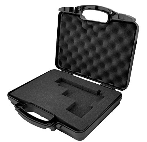 - Cedar Mill Firearms Pick and Pluck Foam Hard Lockable Waterproof Pistol Gun Case for Carrying Handguns & Revolvers Airline TSA Approved Flight Travel Safe Fits Glock Smith & Wesson 9mm pistols/handgun