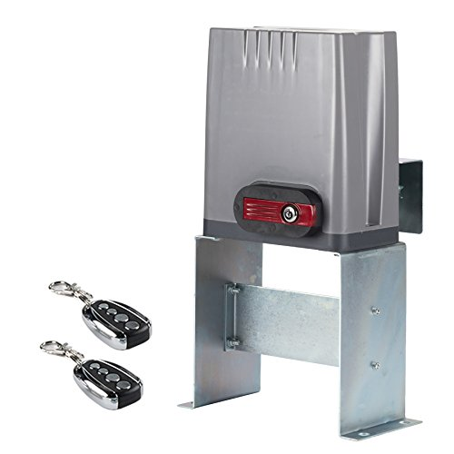 CO-Z Sliding Gate Opener with Wireless Remotes, Roller Gate Motor, Automatic Slide Gate Operater Kit for Fence Driveway, Auto Chain Gate Opener Hardware with Controllers(for 1800lbs Gate) ()