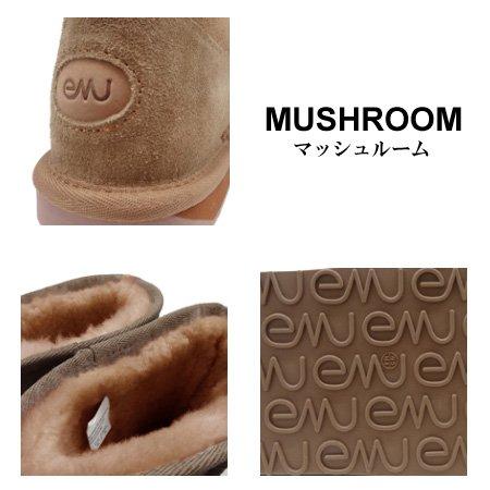 エミュー(emu)ムートンブーツ2014-15年モデルSTINGERMINIW10003スティンガーミニマッシュルールベージュブラウン26cmレディース
