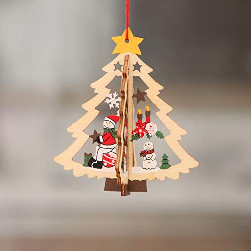 Christmas Wooden Tree Ornaments Hollow Out Tree