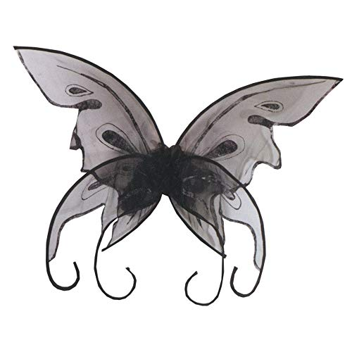 Fun World Women's Butterfly Wings, Black, Standard -