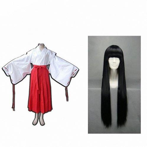 Japonés nichos Anime Cosplay Inuyasha Kikyo Kimono Cosplay ...