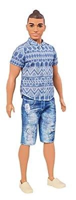 Barbie Ken Fashionistas Distressed Denim Doll, Broad