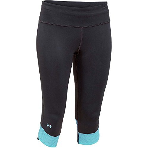 Under Armour Fly By Compression Capri Women's Running Tights - AW15 - X Small - Black/Blue