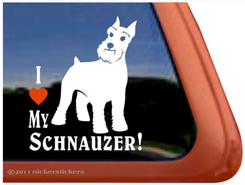 Schnauzer Vinyl Window Decal Sticker