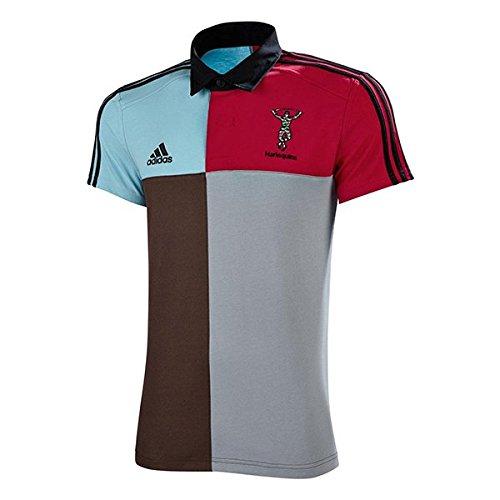 adidas Harlequins Retro Rugby Shirt - Senior - Brown - X Small