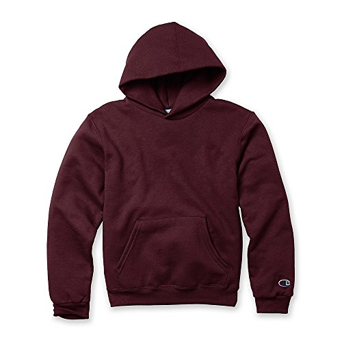 - Champion Double Dry Action Fleece Pullover Hood (S790) Maroon, L