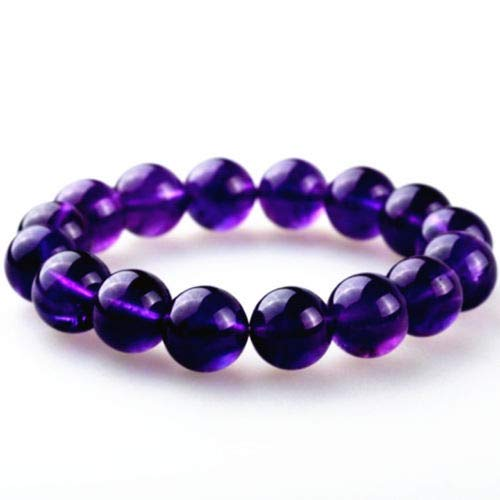 Feng Shui Amethyst Purple Crystal Beads Bracelet for Healing Health