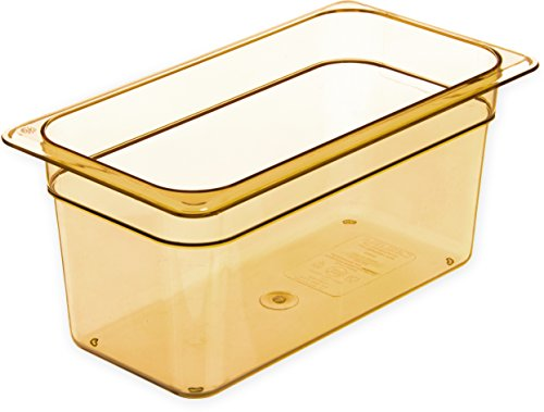 Carlisle 3086213 StorPlus High-Heat Third-Size Food Pan, 5.7 qt. Capacity, 12-3/4 x 7 x 6'', Amber (Case of 6) by Carlisle