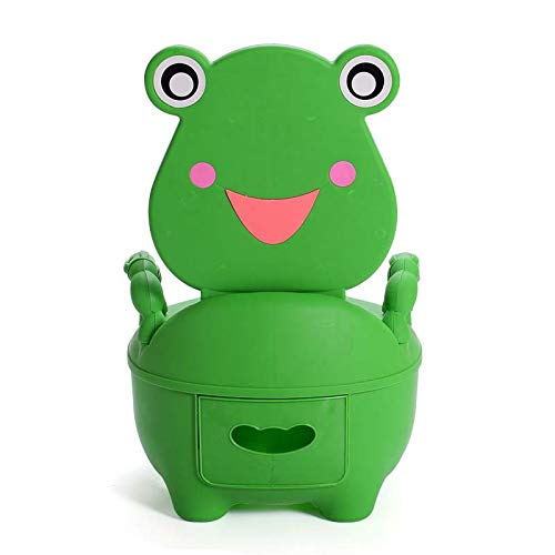 Autumn Water Baby Kids Travel Portable Potty Toilet Plastic Urinals boy Drawer Frog Cartoon Toilet Training seat 0-5 Years by Autumn Water