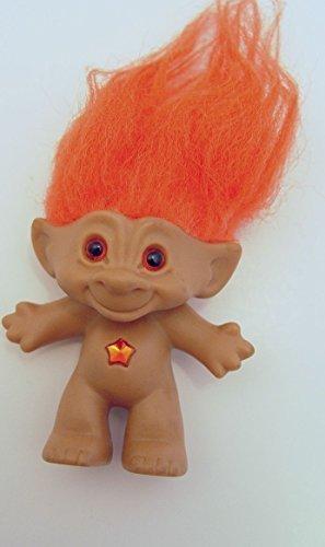 amazon com ace novelty orange hair treasure troll with orange star