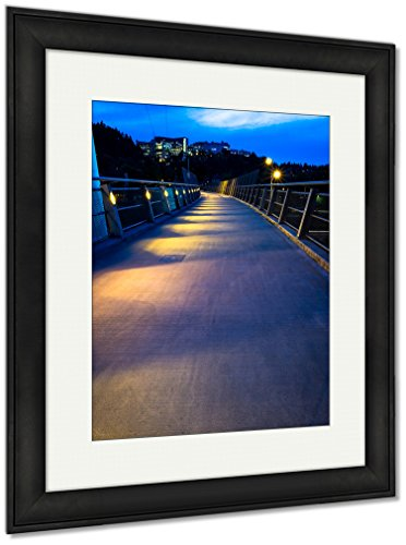 Ashley Framed Prints Overpass In Portland Oregon, Wall Art Home Decoration, Color, 35x30 (frame size), Black Frame, AG6507553 Museum Black Path Light