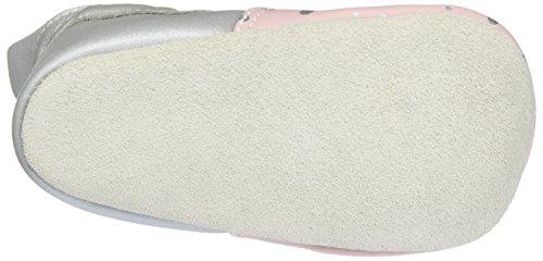 Bobux Baby Mädchen Rosa mit Silbertupfen Slipper, Pink (Rosa), S