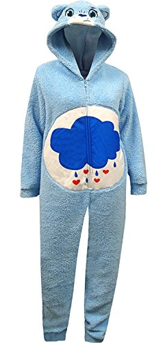 [Briefly Stated Women's Fuzzy Grumpy Bear Union Suit, Multi-Colored, Medium] (Onesie Suit)