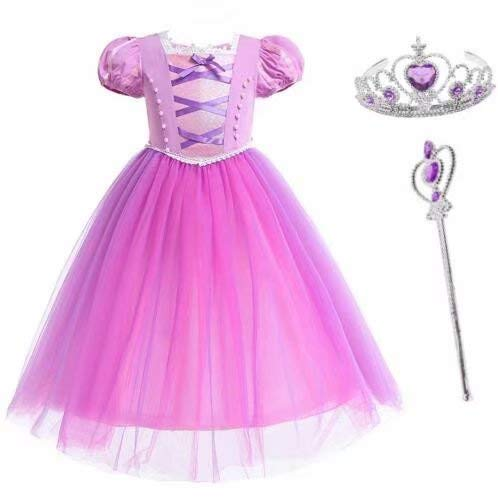 Tsyllyp Girls' Princess Sofia Dress For Halloween Costume Cosplay Party Outfit for $<!--$25.99-->