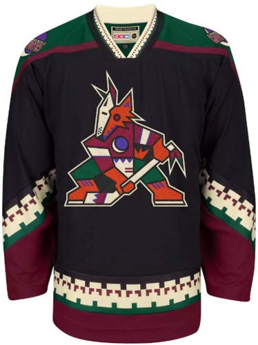 adidas Arizona Coyotes CCM Black Classic Authentic Throwback Team Jersey (56/2X-Large)
