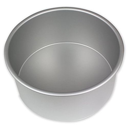 PME RND074 Round Seamless Professional Aluminum Baking Pan, 7