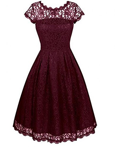 Beauty the Weinrot Leader Kleid of Damen qBUFxnpwEv