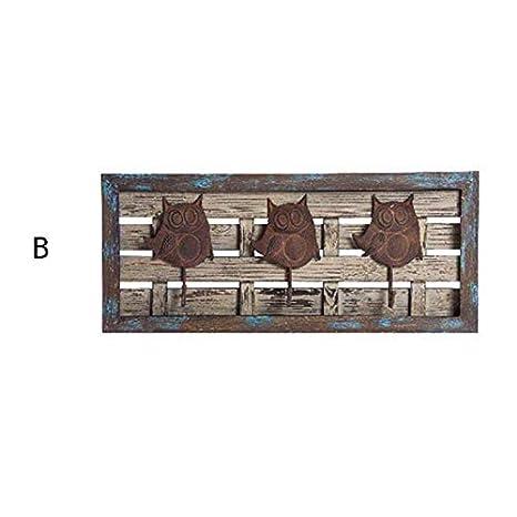 Home Line Perchero de Pared Modelo búhos (70x30x9) - B ...