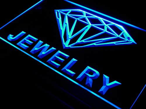 (ADVPRO Jewelry Diamond Shop Open LED Neon Sign Blue 24 x 16 Inches st4s64-i476-b)