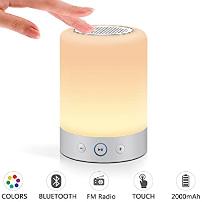 Marrado Lamp Speaker - Bedside Lamp with Bluetooth Speak, Sensitive Touch Sensor, Multi-Color Changing Table LED Lamp, Bedrooms Smart Portable Wireless Night Light