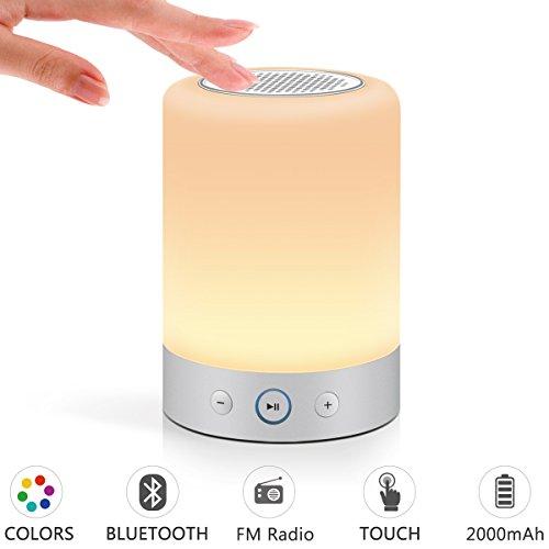 (Marrado Lamp Speaker - Bedside Lamp with Bluetooth Speak, Sensitive Touch Sensor, Multi-Color Changing LED Table Lamp, Bedrooms Smart Portable Wireless Night Light)