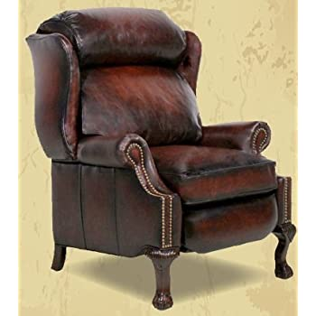 Amazon Com Barcalounger Danbury Ll Leather Wing Recliner