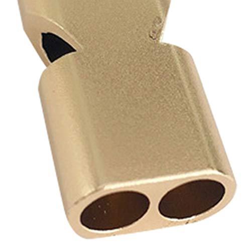 Plata Jullyelegant Llavero de Doble frecuencia de aleaci/ón de Aluminio Molle Silbato de Supervivencia de Emergencia para Acampar Senderismo Deportes al Aire Libre Accesorios Herramientas